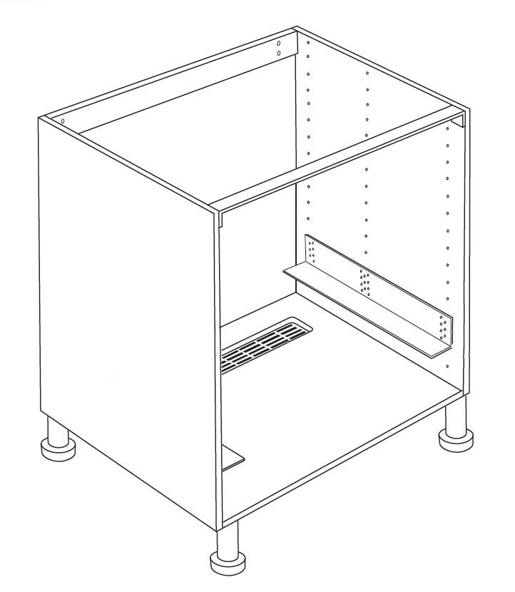 Appliance cabinet for IKEA Faktum oven