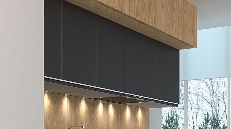 Handleless kitchen doors for IKEA Faktum UAL1