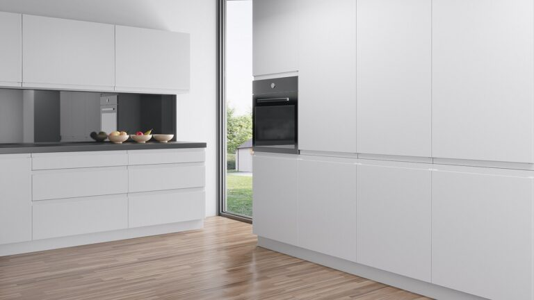 An IKEA Faktum kitchen with handleless doors and fronts