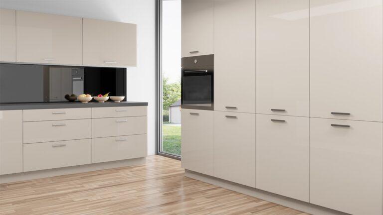 W08 Cream High Gloss HG8810 IKEA Faktum Kitchen Cabinet Replacement Doors