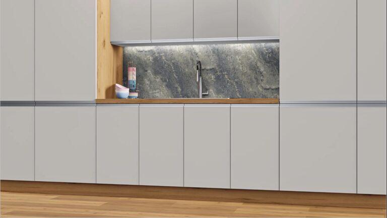 Handleless new doors for IKEA kitchens. Faktum + Metod