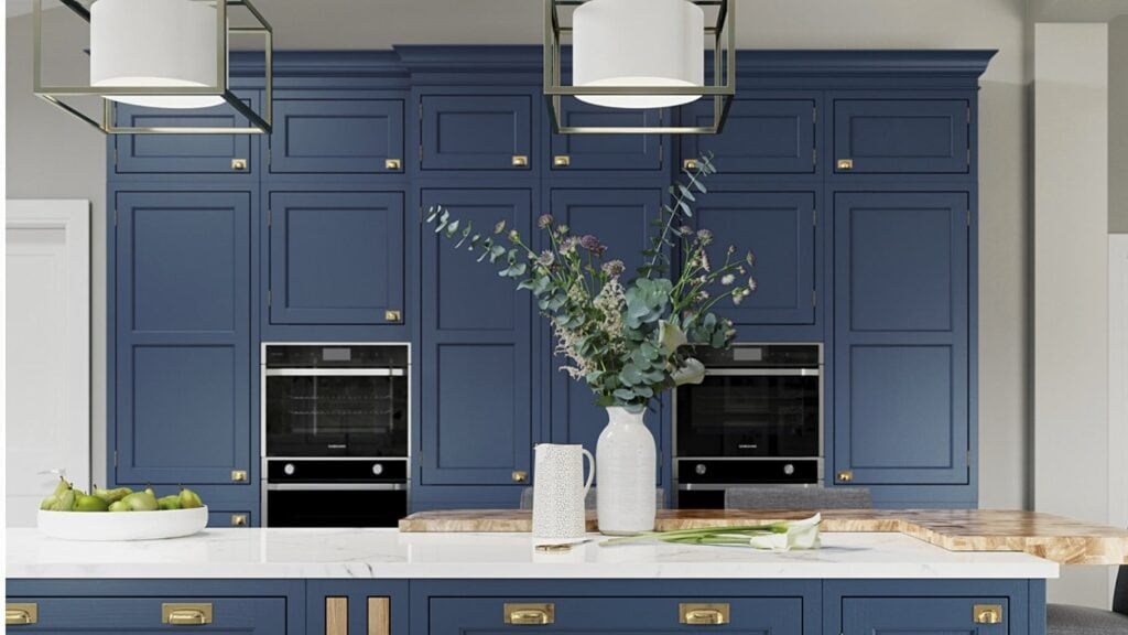 IKEA Kitchen Doors in Parisian Blue