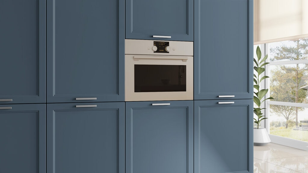 Doors and fronts for IKEA Faktum kitchens in Parisian Blue